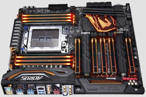 Gigabyte GA-X399-AORUS-GAMING-7 X399 AORUS Gaming 7 AMD TR4 Ryzen Threadripper Series, 8xDDR4, PCIE, USB3.1