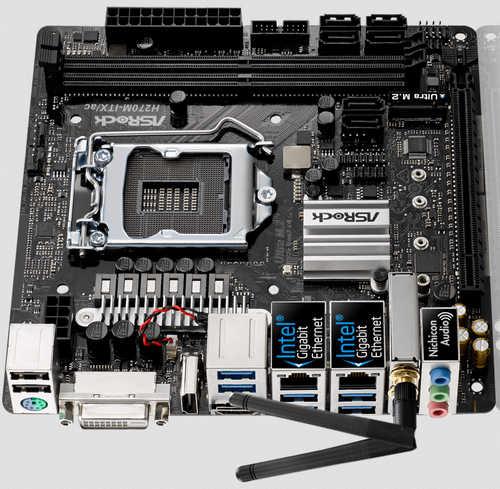 ASRock H270M-ITX/AC LGA1151, 2xDDR3, PCIE, Int. Graphic, USB3.0, Mini-ITX