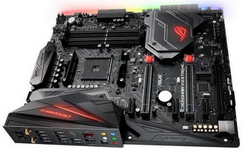 ASUS ROG CROSSHAIR VI EXTREME AMD X370 Ryzen AM4 4xDDR4, PCIE, USB3.1, EATX