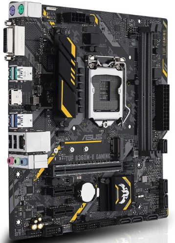 ASUS TUF B360M-E GAMING LGA1151,DDR4, PCIE, Int. Graphic, USB3.1, mATX