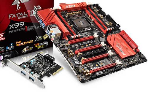 ASRock Fatal1ty X99 Professional Intel LGA2011 v3, 8xDDR4, PCIE, USB 3.1, RAID