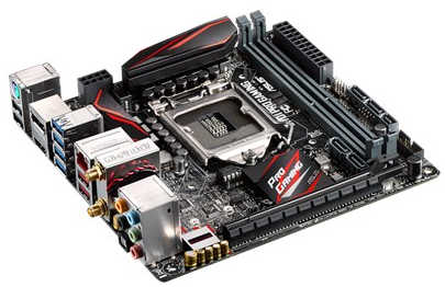 ASUS Z170I-PRO-GAMING LGA1151, 2xDDR4, PCIE, Int. Graphic, USB3.1, Mini-ITX