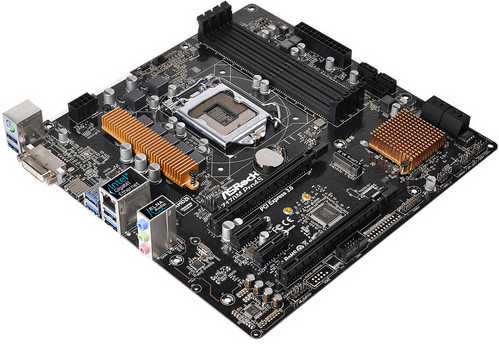 ASRock Z170M Pro4S LGA1151, 4xDDR4, PCIE, Int. Graphic, USB3.0, RAID mATX