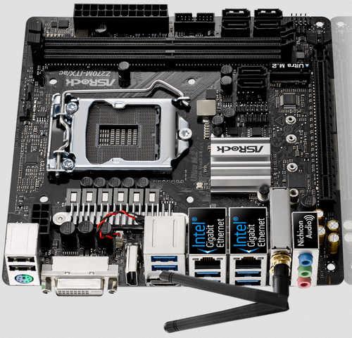 ASRock Z270M-ITX/AC LGA1151, 2xDDR4, PCIE, Int. Graphic, USB3.0, Mini-ITX