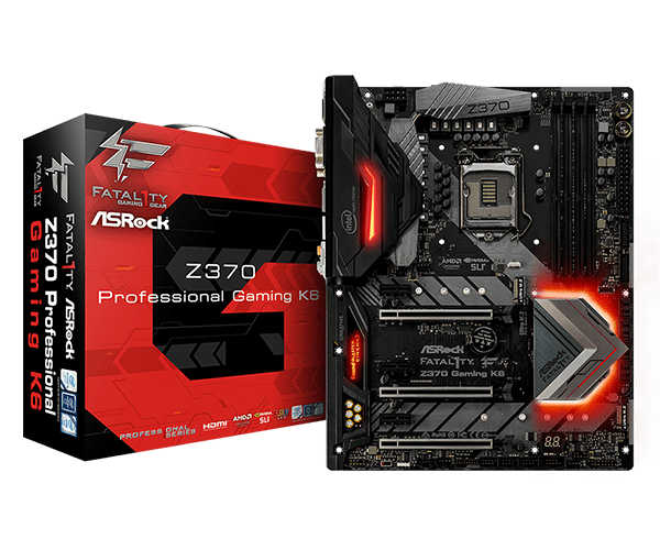 ASRock Z370 Fatal1ty Gaming K6, Super Alloy, ATX, USB 3.1 Gen2, PCIe  & SATA, DDR4, HD Audio