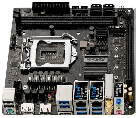 ASRock Z370M-ITX/AC LGA1151, DDR4, PCIE, Int. Graphic, Mini-ITX