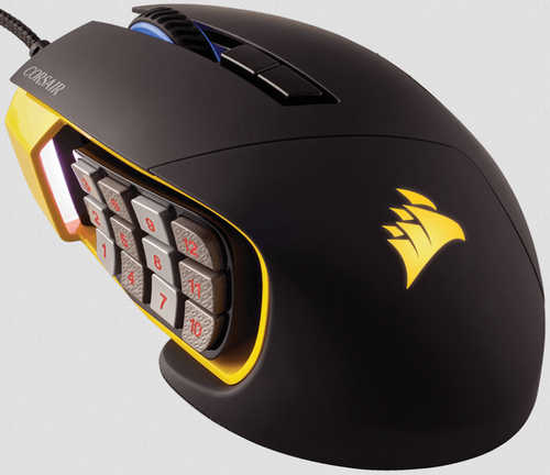 Corsair Scimitar PRO RGB Optical MOBA/MMO Gaming Mouse Yellow (AP)