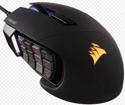 Corsair Scimitar PRO RGB Optical MOBA/MMO Gaming Mouse Black (AP)
