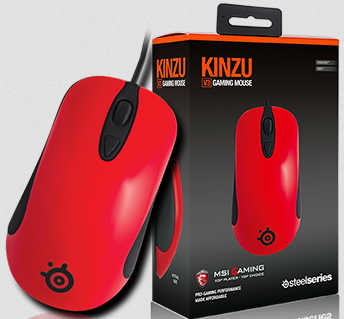 Steel Series KINZU v2 MSI Red Optical Gaming Mouse (one left)