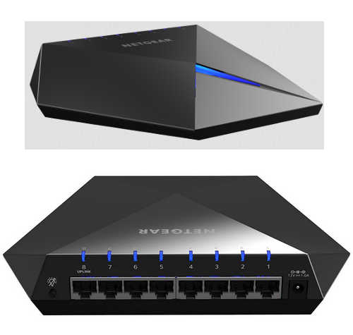 8-Ports Netgear GS808E-100AUS Nighthawk S8000 Gaming & Streaming Switch