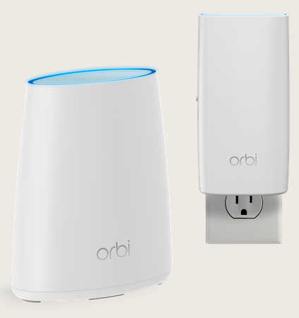 Netgear RBK30-100AUS Orbi Whole Home AC2200 Tri-band WiFi System (WiFi Router & Wall Plug Satellite)
