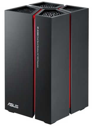 ASUS RP-AC68U Wireless AC1900 repeater with USB 3.0 and 5 Gigabit Ethernet ports