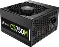 750W Corsair CS Series CS750M 80 PLUS Gold Modular Cables Management Power Supply