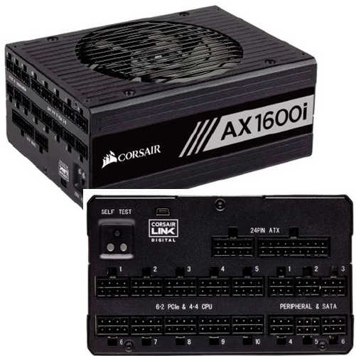 1600W Corsair AX Series AX1600i 80 Plus Titanium Modular Cables Management Digital ATX Power Supply