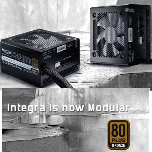 750W Fractal Design Integra M 80 PLUS Bronze Modular Cables Management Power Supply