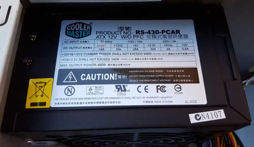 400W Coolermaster eXtreme Power RS-430-PCAR Power Supply OEM