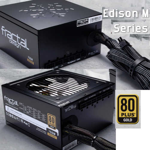 650W Fractal Design Edison M 80 PLUS Gold Modular Cables Management Power Supply