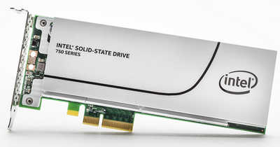 800GB Intel 750 Series Performance unleashed Half Height PCIE Solid State Disk (SSD)