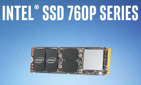 "512GB 2.5"" Intel 760P Series M.2 PCIE Solid State Disk (SSD)"