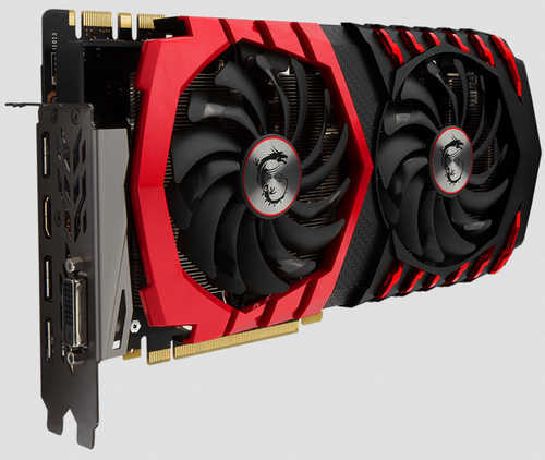 MSI GTX 1070 GAMING X 8G GDDR5 256-bit, DVI, HDMI, DisplayPort