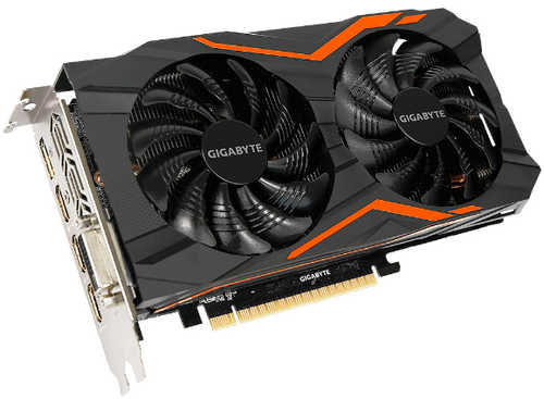 Gigabyte N1050G1-GAMING-2GD GTX 1050 G1 Gaming 2GB GDDR5 128-bit, DVI, HDMI, DisplayPort