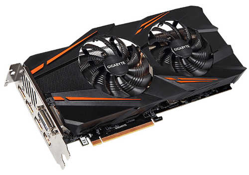 Gigabyte N1070WF2OC-8GD GTX 1070 WINDFORCE OC 8GB GDDR5 256-bit, DVI, HDMI, DisplayPort