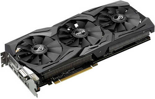 ASUS ROG-STRIX-RX580-T8G-GAMING ROG Strix Radeon RX 580 T8G Gaming Top Edition 8GB GDDR5 256-bit, DVI, HDMI, DisplayPort