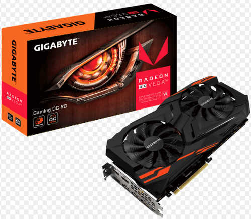 Gigabyte RXVEGA64GAMING-OC-8GD 8 GB HBM2, 2048 bit, HDMI, Display Port