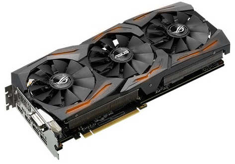 ASUS STRIX-GTX1080-A8G-GAMING ROG Strix GTX 1080 8GB GDDR5 256-bit, DVI, HDMI, DisplayPort