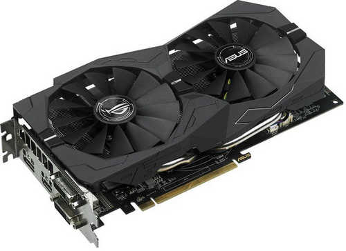 ASUS ROG-STRIX-RX570-O4G-GAMING ROG Strix RX570 OC edition 4GB GDDR5 256-bit, DVI, HDMI, DisplayPort