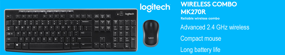 Logitech MK270R Wireless Desktop Set Combo Keyboard & Mouse