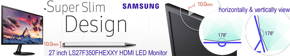 "27"" Samsung LS27F350FHEXXY 5ms HDMI LED Monitor"