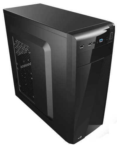 Aerocool AER-CS-1101-T600W Black Tower Case with 600W PSU