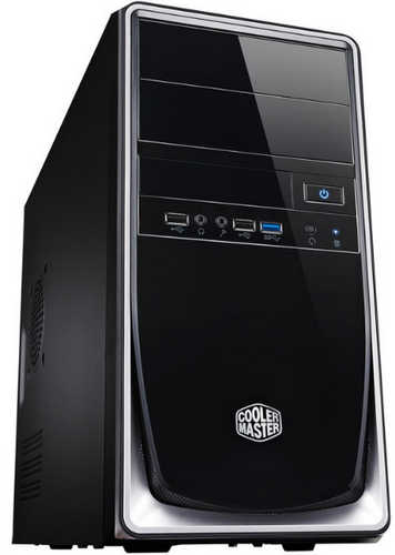 Coolermaster Elite 344 Black/Silver Micro/Mini-ITX Tower Case with 420W PSU