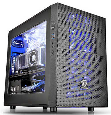 Thermaltake Core X1 USB 3.0 Mini-ITX Cube Chassis with Side Window Panel