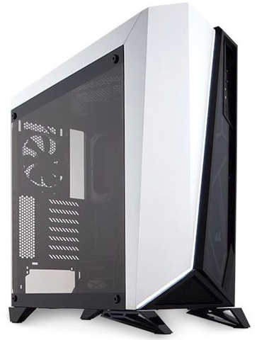 Corsair Carbide Series Spec-Omega Black and White Tower Tempered Glass Gaming Case