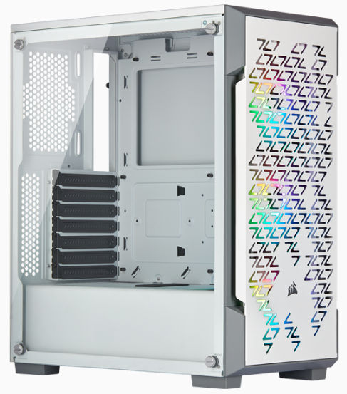 Corsair iCUE 220T RGB Airflow Tempered Glass Mid-Tower Smart White Case