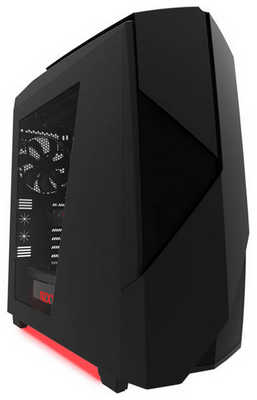 NZXT Noctis 450 Matte Black Tower Gaming Case with Side Window Panel