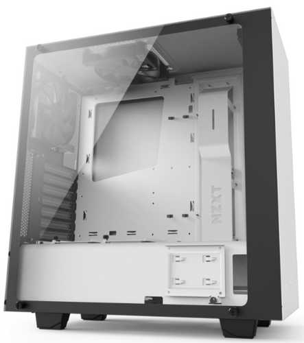 NZXT Source S340 Elite Matte White USB3.0 Tower Case with Side Window Panel