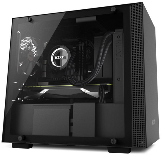 NZXT H200 Matte Black Mini-ITX Tower Case with Side Window Panel