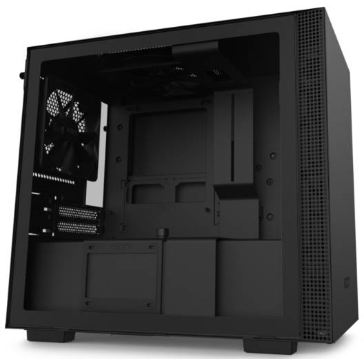 NZXT H210 Black Mini-ITX Tower Case with Tempered Glass Side Window Panel