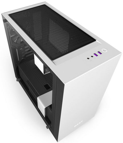 NZXT H400i Matte White CAM-powered Premium Micro ATX mATX Case with Side Window Panel