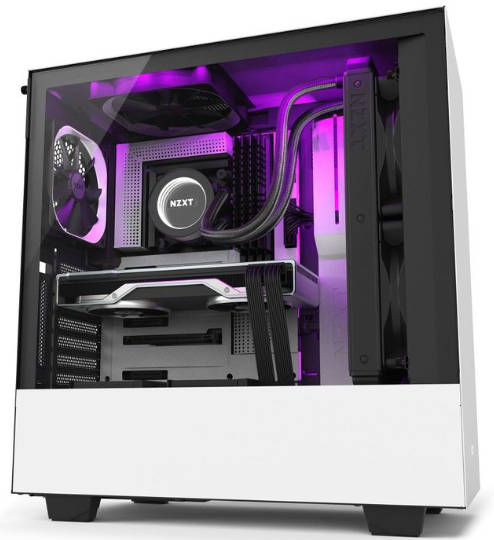 NZXT H510i White ATX Tower Case Smart Device Lighting and Fan control with Tempered Glass Side Window Panel