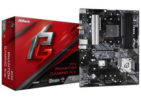 ASRock B550 PHANTOM GAMING 4 WiFi AMD Ryzen AM4 motherboard