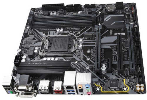 Gigabyte GA-B360M-D3H  4xDDR4, PCIE, USB3.1, HDMI,DVI-D, mATX