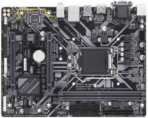 Gigabyte GA-B360M-HD3 Intel 8th LGA1151, DDR4,D-Sub, DVI-D, HDMI USB 3.1