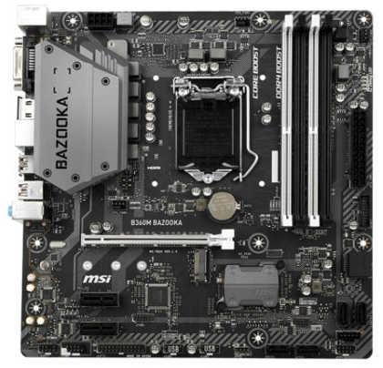 MSI B360M BAZOOKA LGA1151, 4xDDR4, PCIE, M.2, USB3.1,mATX