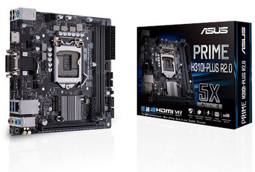 ASUS PRIME PRIME-H310I-PLUS-R2.0 Intel 8th LGA1151,DDR4, PCIE, Int. Graphic, USB3.1, Mini-ITX