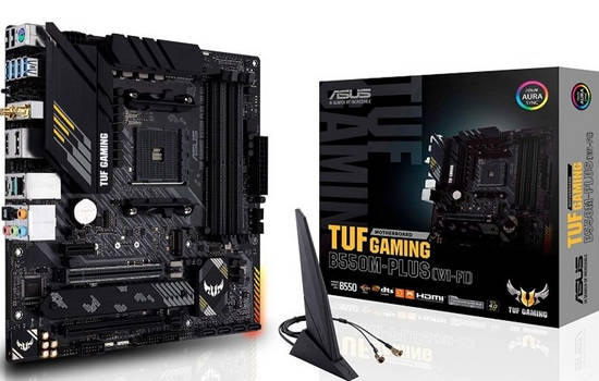 ASUS TUF GAMING B550M-PLUS (WIFI) AMD B550 Ryzen AM4 DDR4 4800MHz(O.C.)