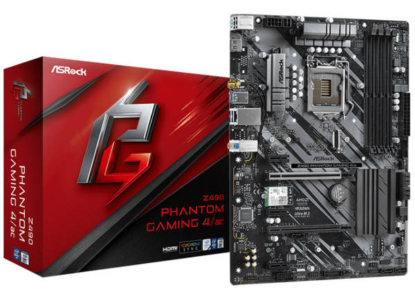 ASRock Z490 PHANTOM GAMING 4 AC Intel 10th LGA1200 Motherboard